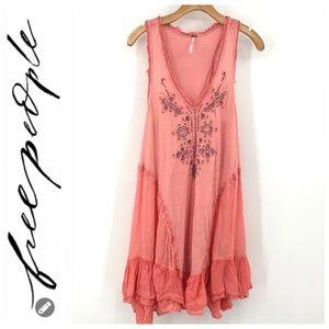 💕SALE Free People Peach Swing Dress